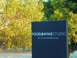 food and wine sign