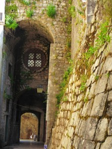 kotor inside city walls